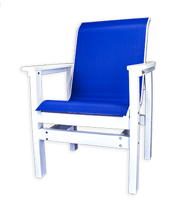 Sling low back dining chair carolina casual