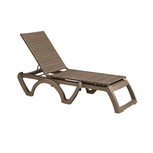 Java All Weather Wicker Chaise Lounge Commercial Outdoor Pool Furniture