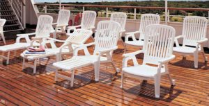 Grosfillex Resin Deck Chairs