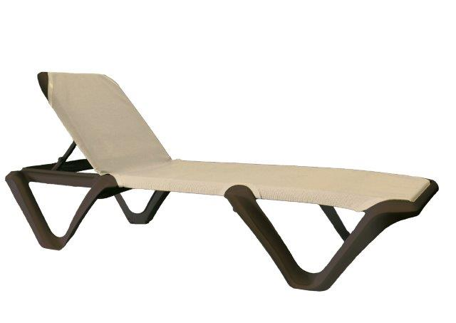 Grosfillex Nautical Pro Stacking Sling Chaise Resort Chairs