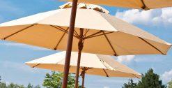 Grosfillex Brand Wooden Market Umbrella
