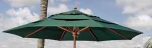 Fiberbuilt Brand Wooden Market Umbrella