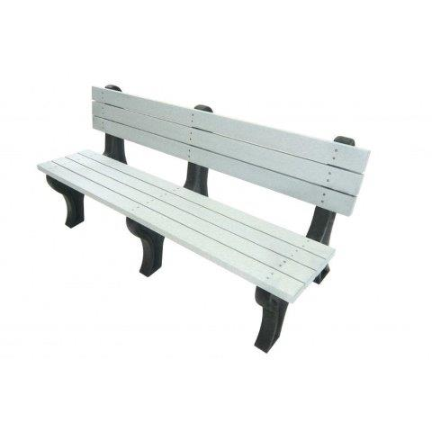 6 recycled park bench