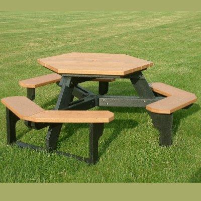 open seat hex table