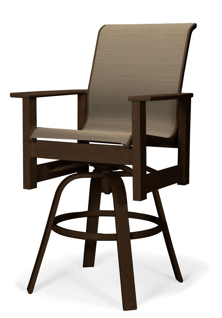 Leeward Mgp Sling Balcony Height Swivel Arm Chair Resort