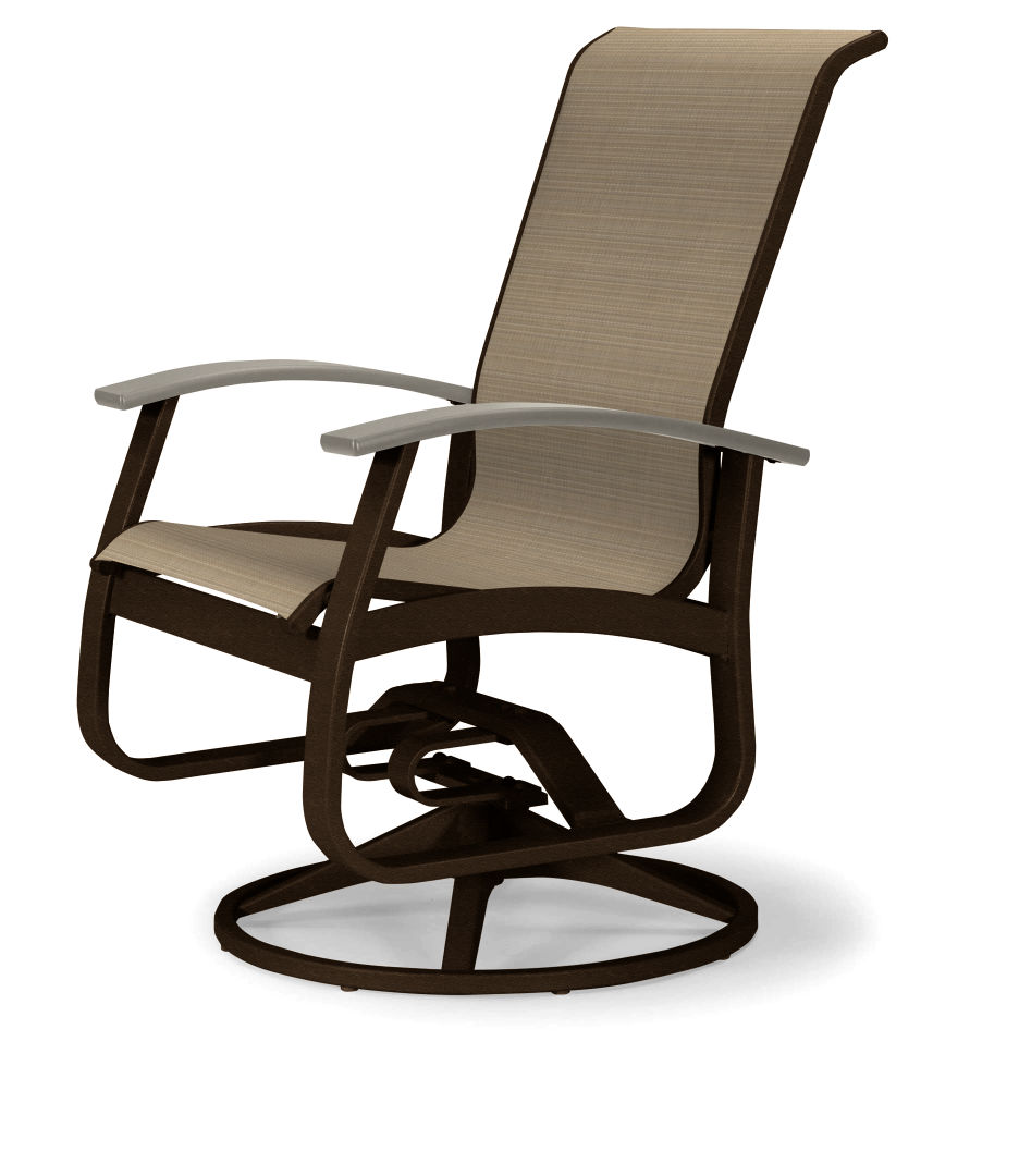 Belle Isle Sling Swivel Rocker Resort Chairs