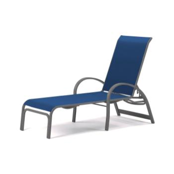 Commercial Sling chaise lounge chairs