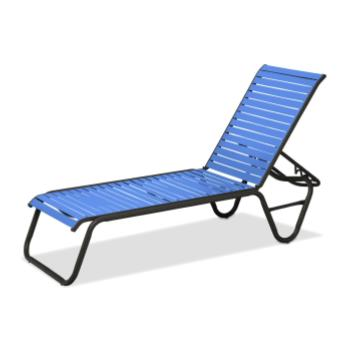 Strap chaise lounges