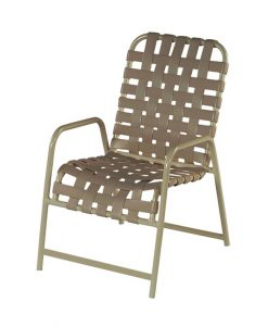 Windward Country Club Strap Dining Chair W/ Extra Brace