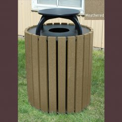 Recycled 49 Gallon Waste Receptacle With Cap